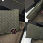 กระเป๋าเงิน BOTTEGA VENETA BI-FOLD WALLET (สีเทาอ่อนอมเขียว) สวยๆ ของใหม่ พร้อมส่ง^^