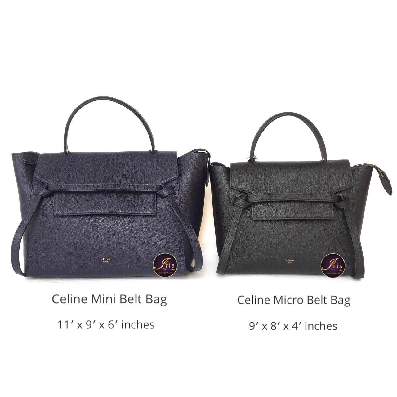 กระเป า Celine Mini Belt Bag In Grained Calfskin ของใหม พร อมส ง Iris Shop