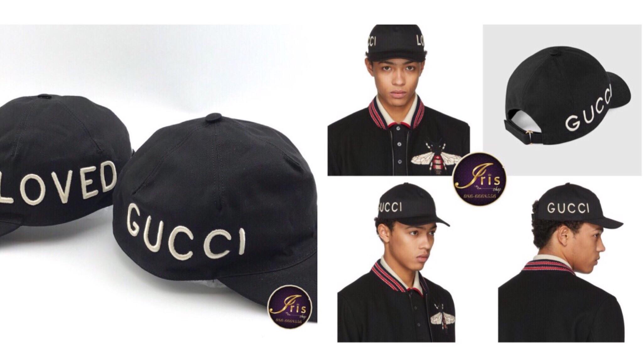 หมวก GUCCI CAP เท่ๆ ปักอักษรทั้งสองด้าน ของใหม่ พร้อมส่ง!!! - Iris Shop 0759695c0dbd