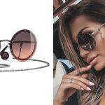 แว่นกันแดด Chanel Round Sunglasses Dark Silver/Orange ของใหม่ พร้อมส่ง‼️