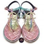 New…Chanel Metallic Multicolor Sandals ของใหม่ พร้อมส่ง‼️