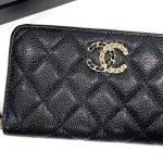 "New…Chanel zippy wallet 6"" black caviar chain logo ของใหม่ พร้อมส่ง‼️"