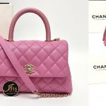 "Chanel coco 9.5"" lizard handle pink caviar ของใหม่ พร้อมส่ง‼️"