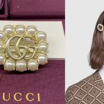 Gucci pearl double G hair clip ของใหม่ พร้อมส่ง‼️