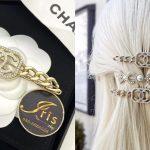 Chanel gold metal and crystal hair clip ของใหม่ พร้อมส่ง‼️