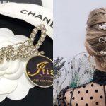 Chanel crystal and pearl hair clip ของใหม่ พร้อมส่ง‼️