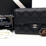 """กระเป๋าเงิน Chanel medium 6"""" tri fold wallet black caviar SHW ของใหม่ พร้อมส่ง‼️"""