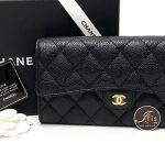 กระเป๋าเงิน Chanel classic sarah long wallet black caviar GHW ของใหม่ พร้อมส่ง‼️