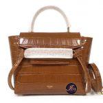 กระเป๋า Celine nano belt bag in tan crocodile calfskin ของใหม่ พร้อมส่ง‼️
